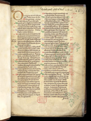 Table Of Contents, With Added Ownership And Other Inscriptions, In Peter Lombard, Commentary On The Pauline Epistles